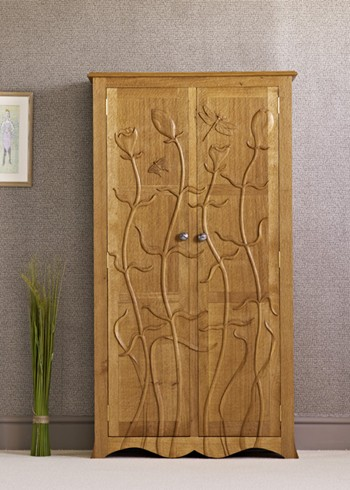 Flower oak wardrobe