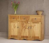 Oak flower sideboard